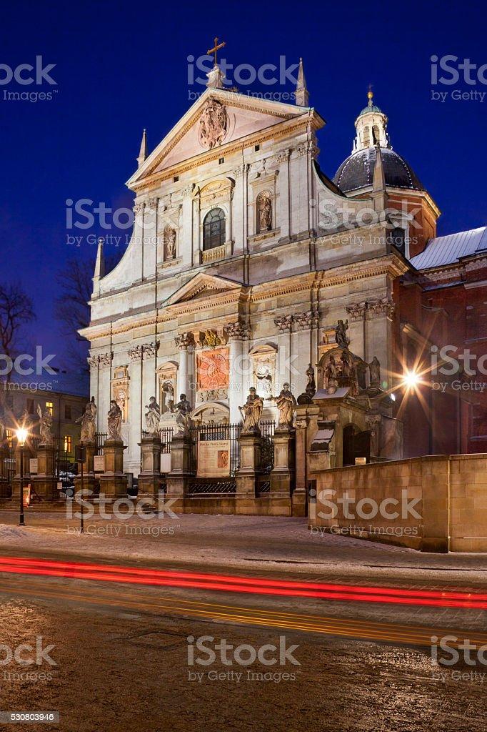 St Peter & St Paul Church - Krakow - Poland stock photo