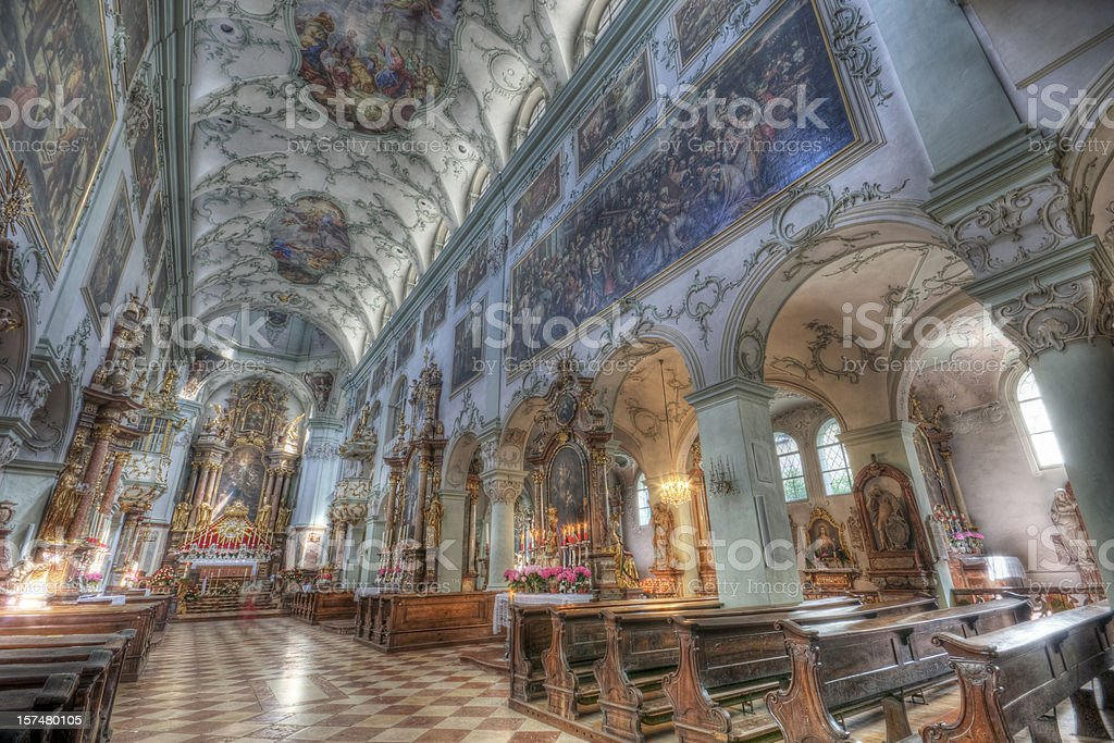 St. Peter's Abbey Church in Salzburg stock photo