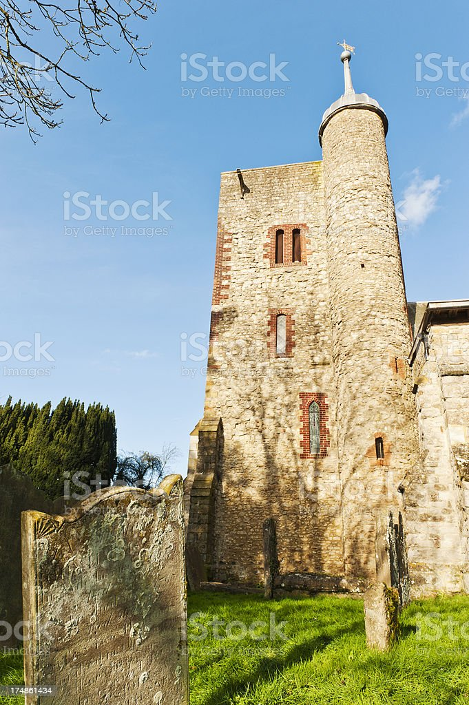 St Peter's and Paul's Church in Yalding stock photo