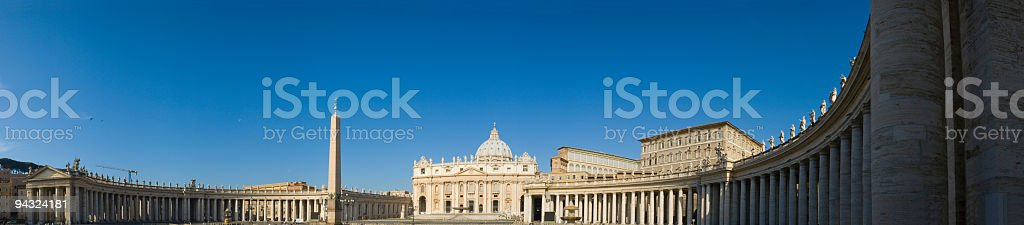 St. Peter's Basilica and Piazza, Rome royalty-free stock photo