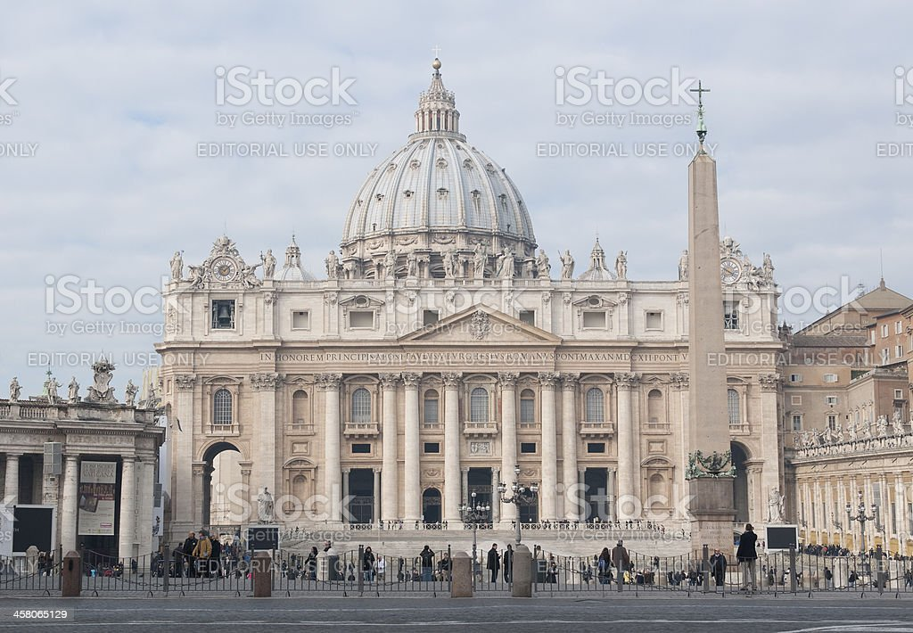 St. Peter's Basilica in Rome Italy royalty-free stock photo