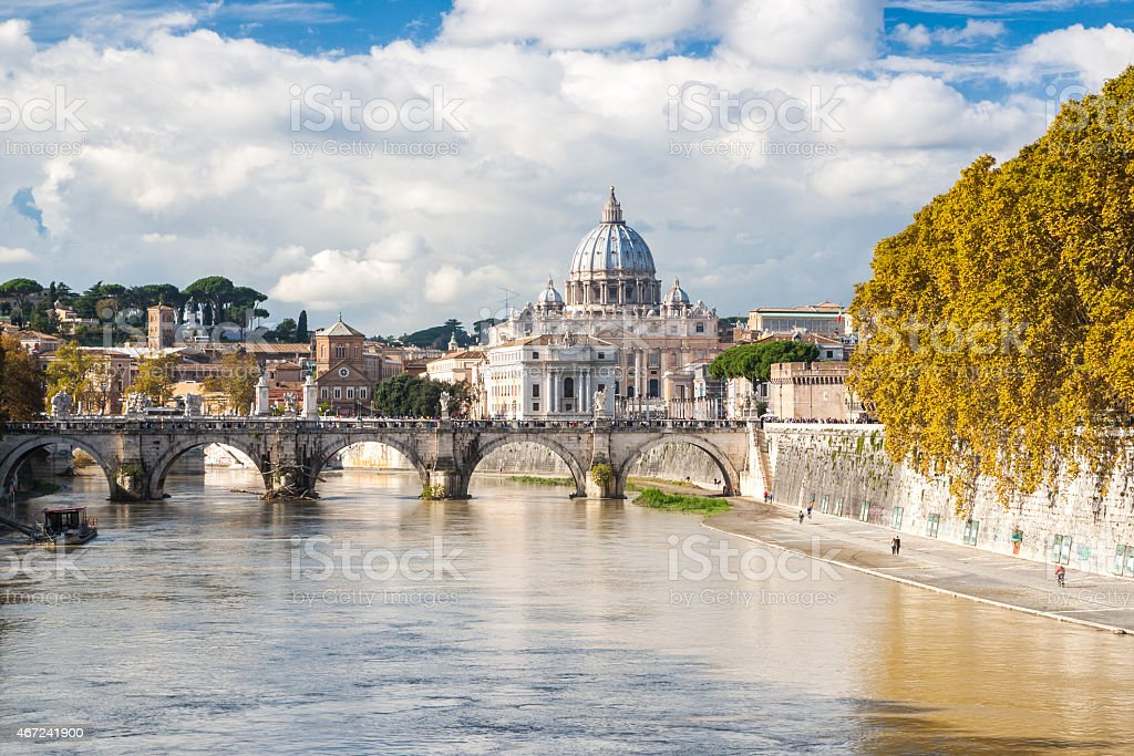 St. Peter's Basilica in Rome, Italy stock photo