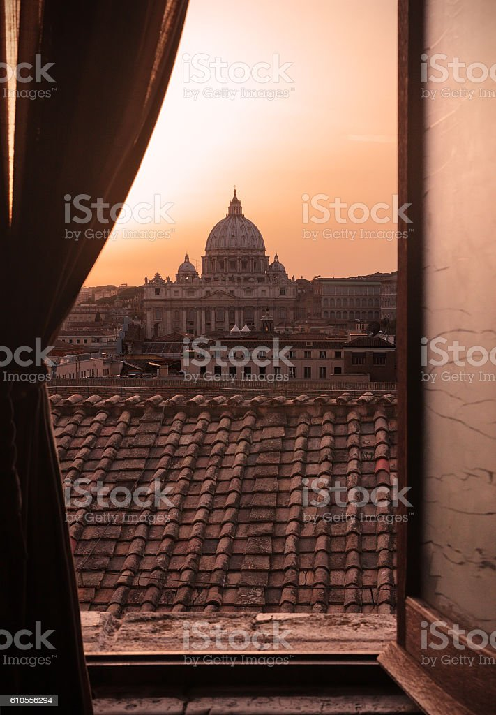 St. Peter's Basilica in Rome stock photo
