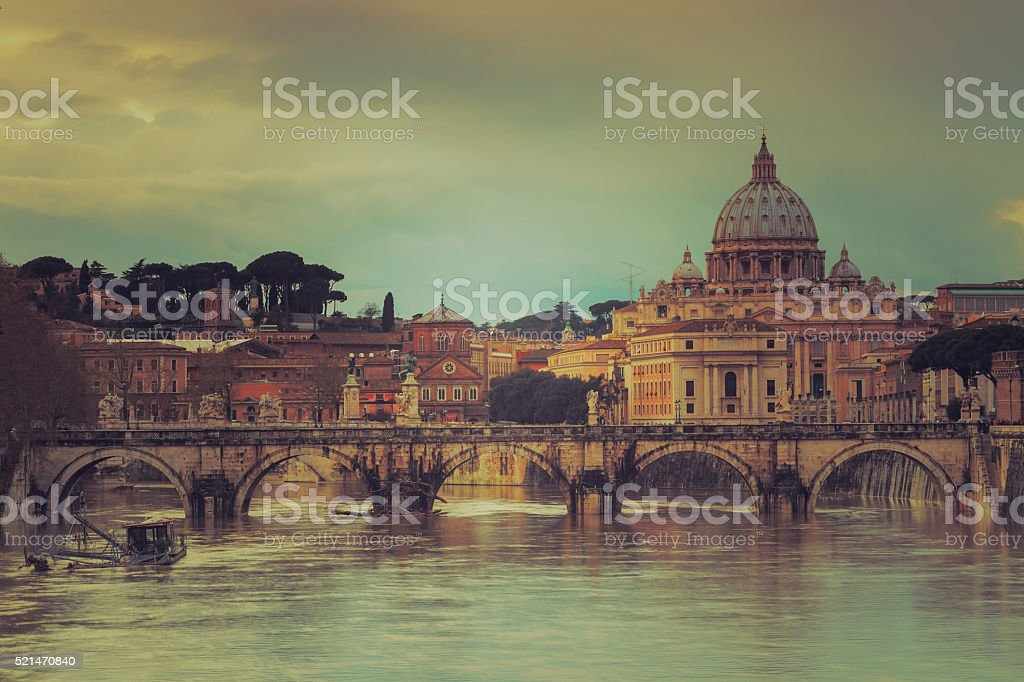St. Peter's Basilica in the Vatican: Rome - Italy stock photo