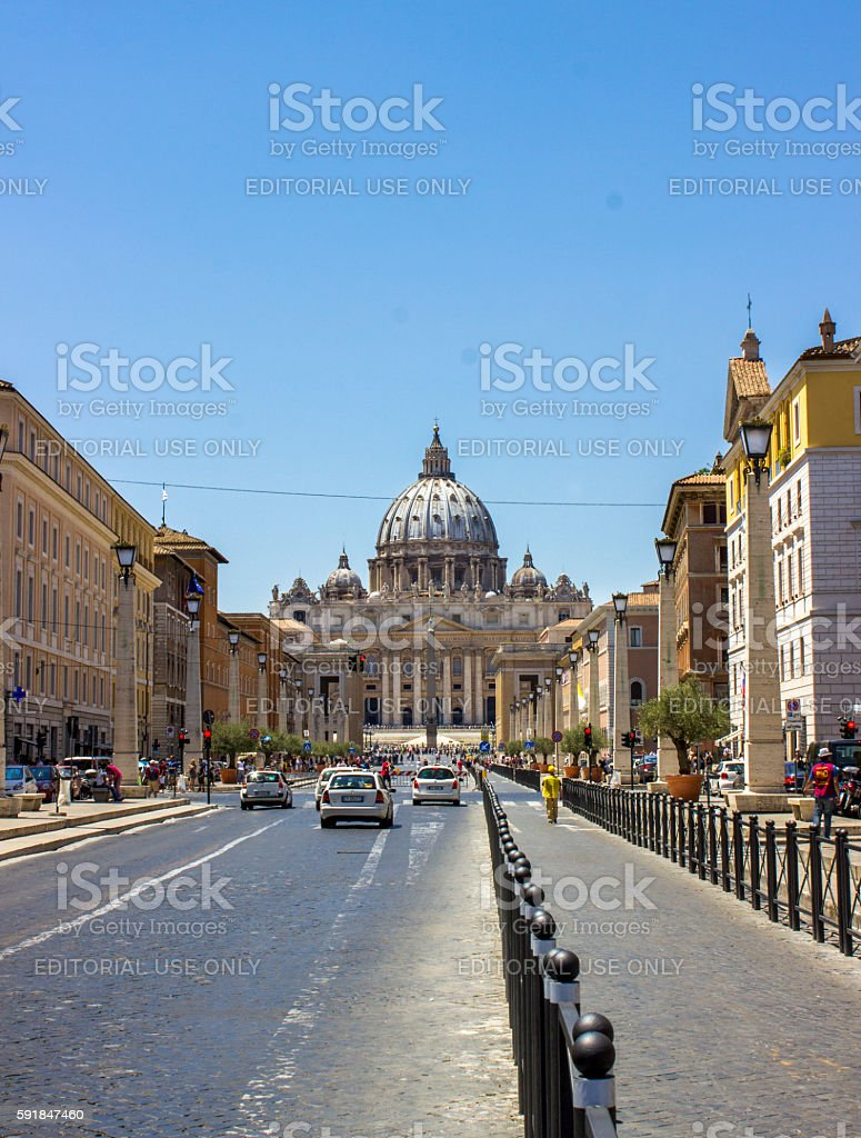 St. Peter's Basilica in Vatican city in Rome, Italy stock photo
