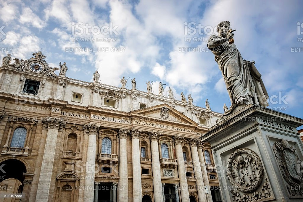 St Peter's Basilica in Vatican City stock photo