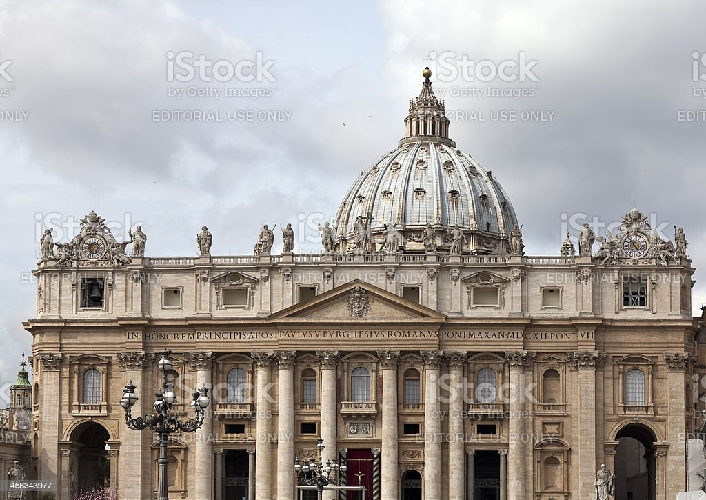 St. Peter's Basilica in Vatican City Rome royalty-free stock photo