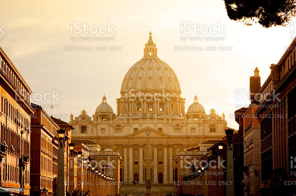 St. Peter's Basilica In Vatican royalty-free stock photo