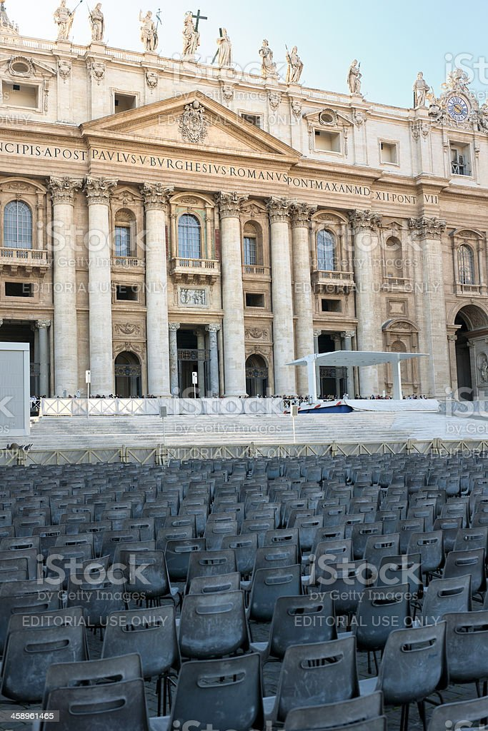 'St Peter's Basilica, Rome Italy' stock photo