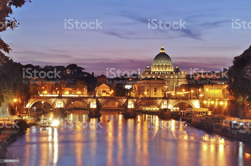 St. Peter's Basilica - Rome royalty-free stock photo