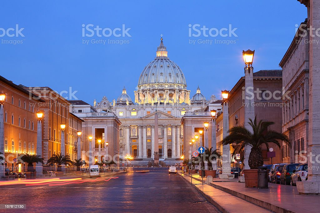 St. Peter's Basilica, Rome, Vatican royalty-free stock photo