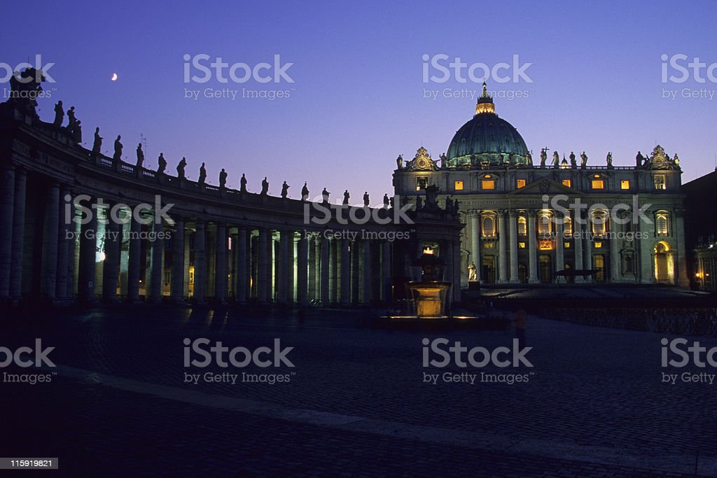 St. Peter's Basilica, Vatican City, Italy stock photo