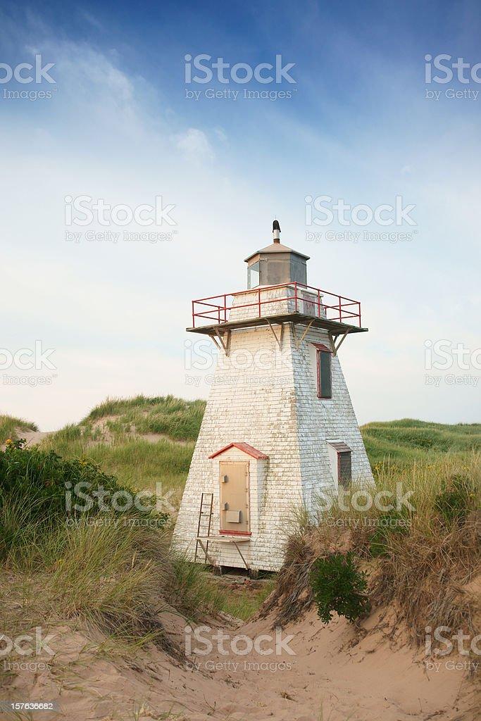 St Peters Bay lighthouse, Prince Edward Island stock photo