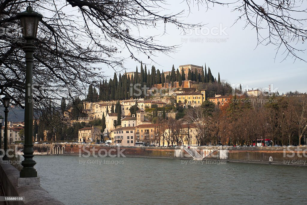 Piazzale Castel San Pietro royalty-free stock photo