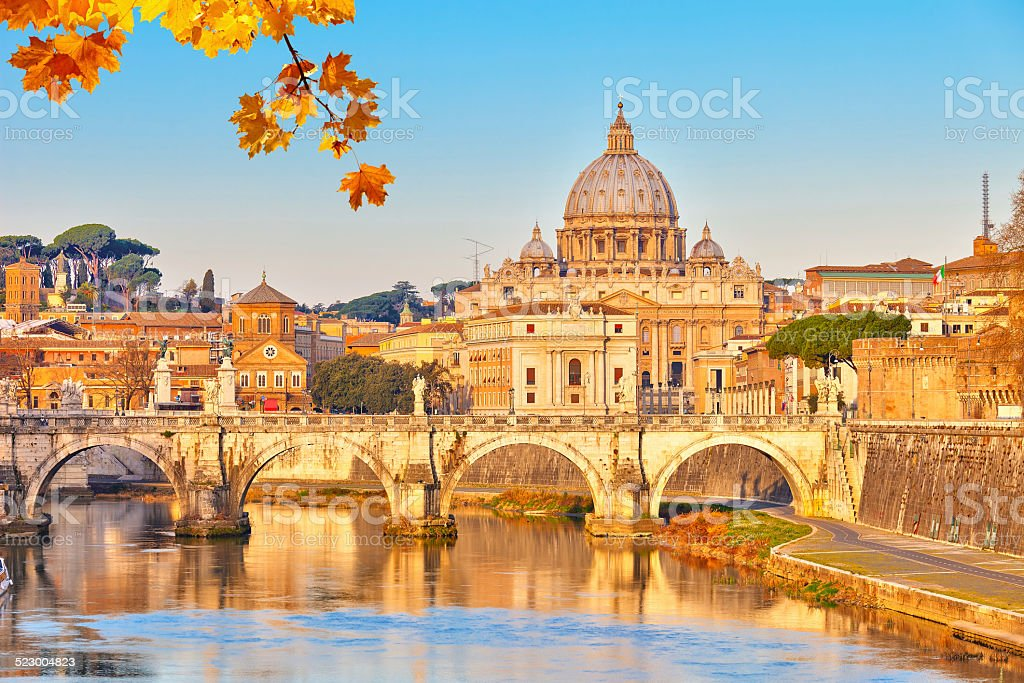 St. Peter's cathedral in Rome stock photo