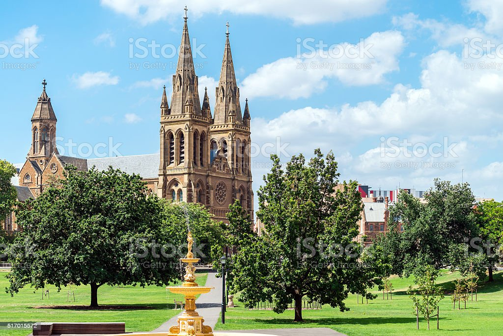 St. Peter's Cathedral of Adelaide stock photo