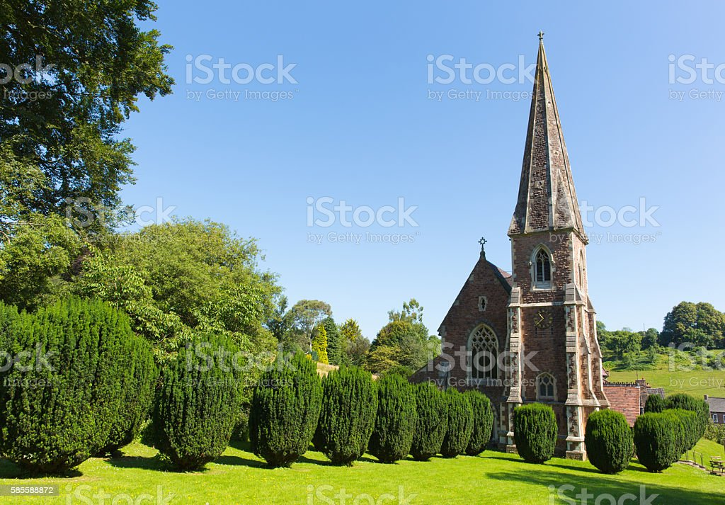 St Peter`s church Clearwell Forest of Dean Gloucestershire England stock photo
