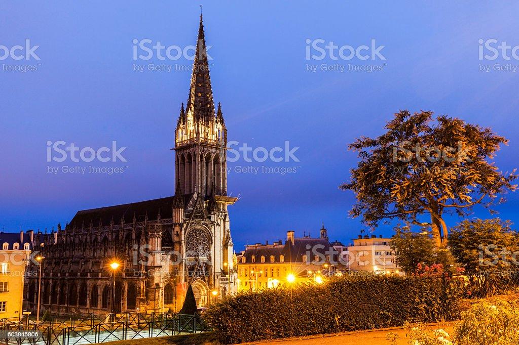St Peter's Church in Caen stock photo