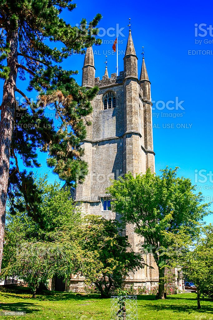 St. Peter's Church Marlborough in Wiltshire, UK stock photo
