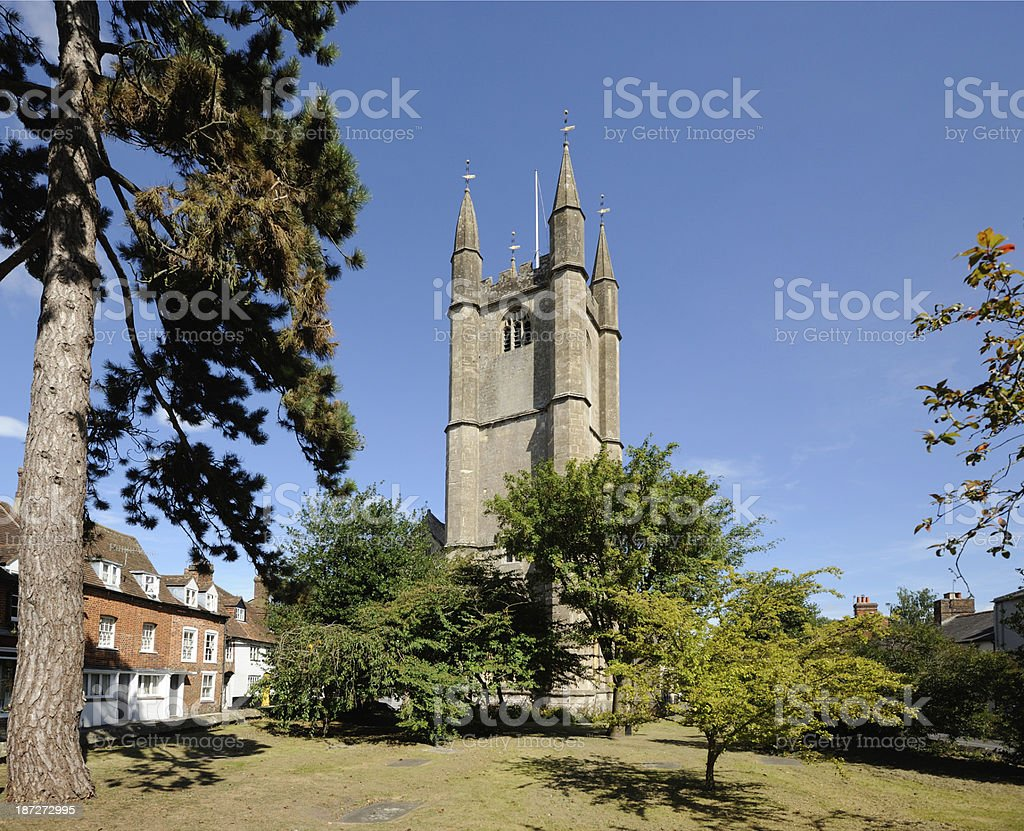 St Peter's Church Marlborough stock photo