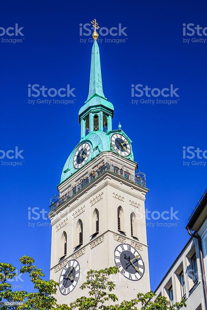 St. Peter's Church, Munich, Bavaria, Germany stock photo