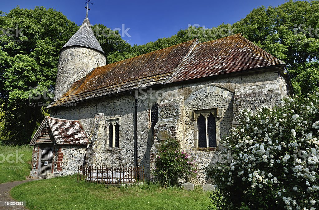 St Peters Church, Southease, East Sussex stock photo