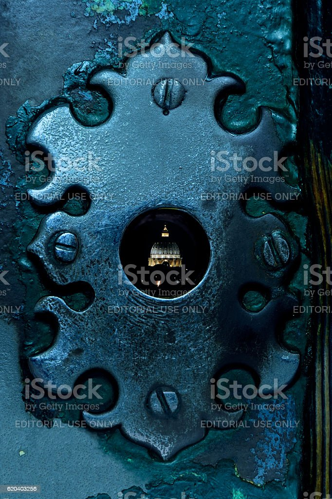 St. Peter's Dome and Keyhole stock photo