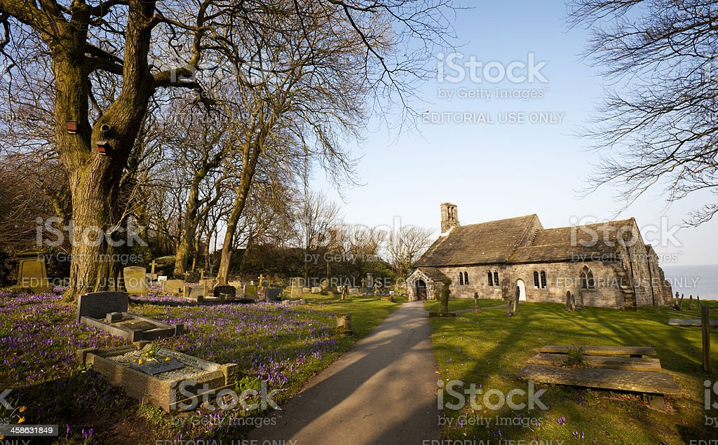 St. Peter's Parish Church, Heysham, Lancashire royalty-free stock photo