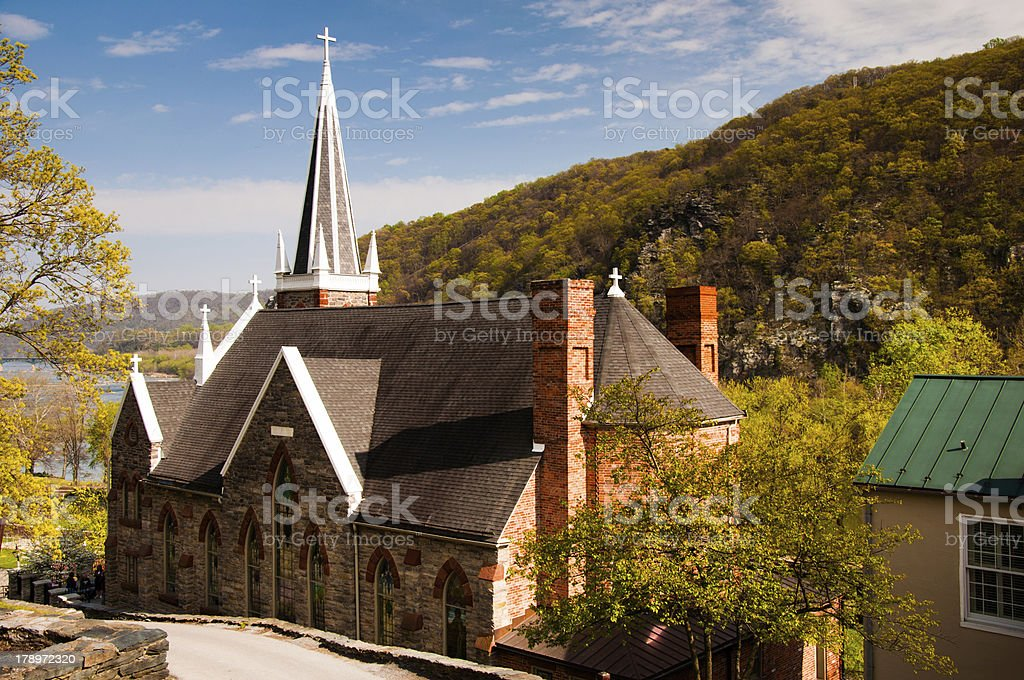 St. Peter's Roman Catholic Church, Harper's Ferry, West Virginia stock photo