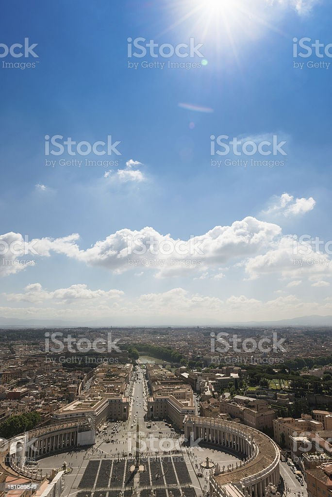 st. peter's square aerial view in Rome royalty-free stock photo