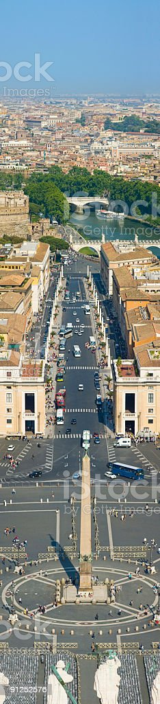 St Peter's Square and Via della Conciliazone, Rome royalty-free stock photo