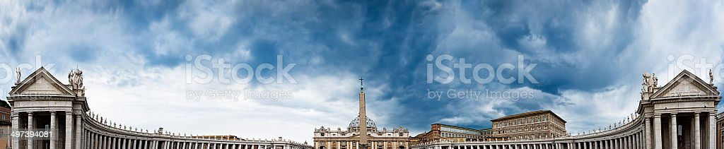 St. Peter's Square in the Vatican City royalty-free stock photo
