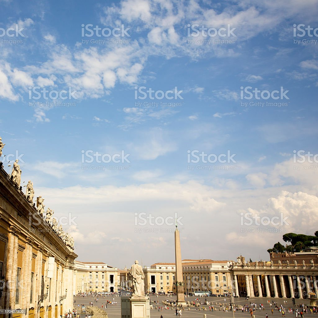 St. Peter's Square In Vatican royalty-free stock photo