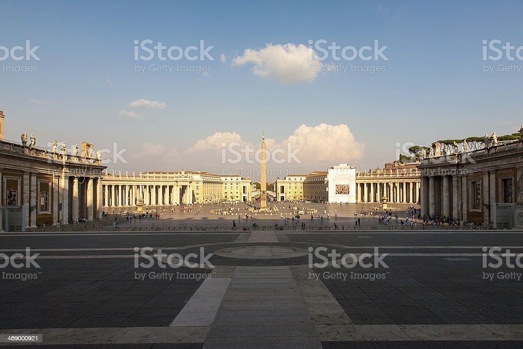 St. Peter's Square In Vatican stock photo