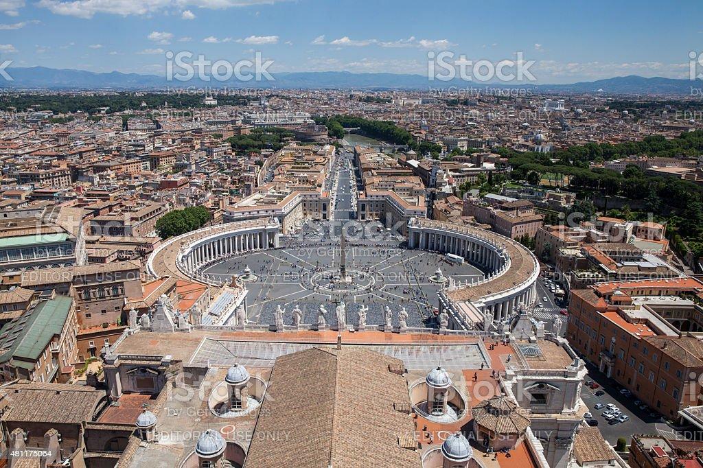 St Peters Square panoramas stock photo
