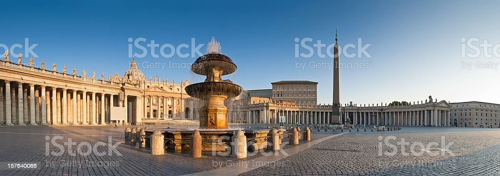 St Peter's Square, Piazza San Pietro, Vatican City, Rome stock photo