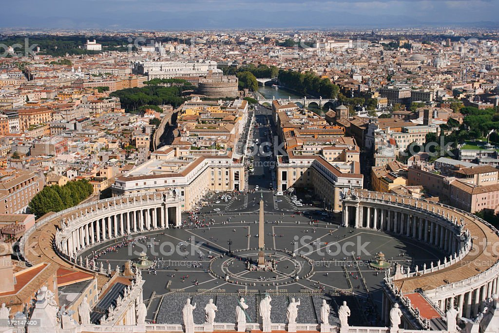St Peters Square royalty-free stock photo