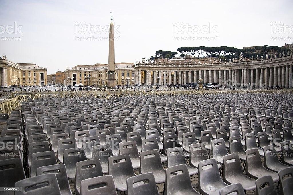 St Peters Square stock photo