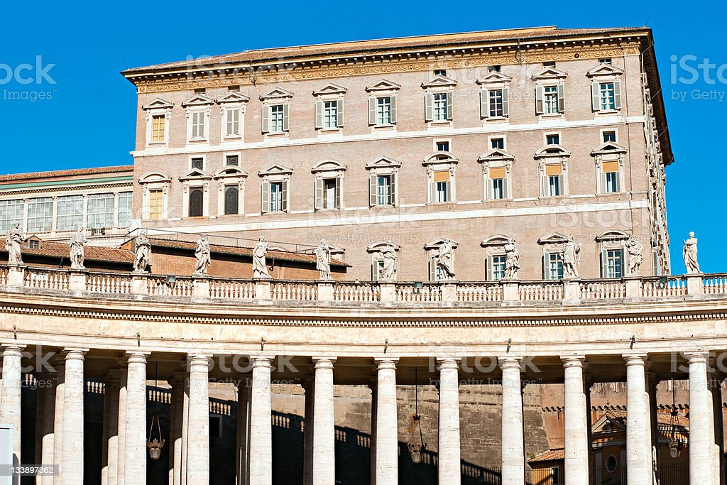 St. Peter's square, Rome, Italy. stock photo