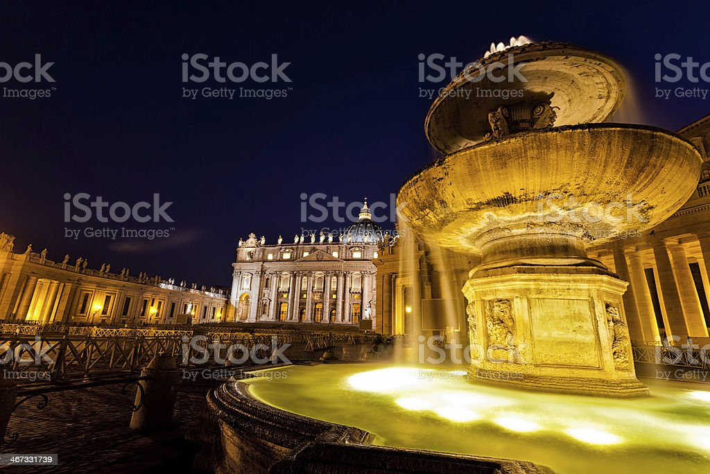 St Peter's Square, Rome, Italy royalty-free stock photo