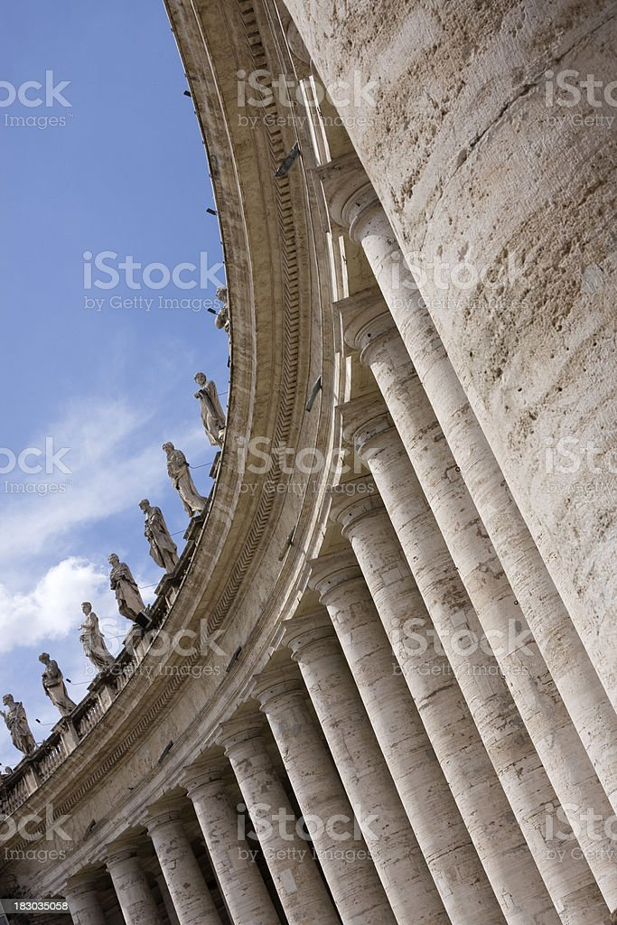 St. Peter's Square, Rome royalty-free stock photo