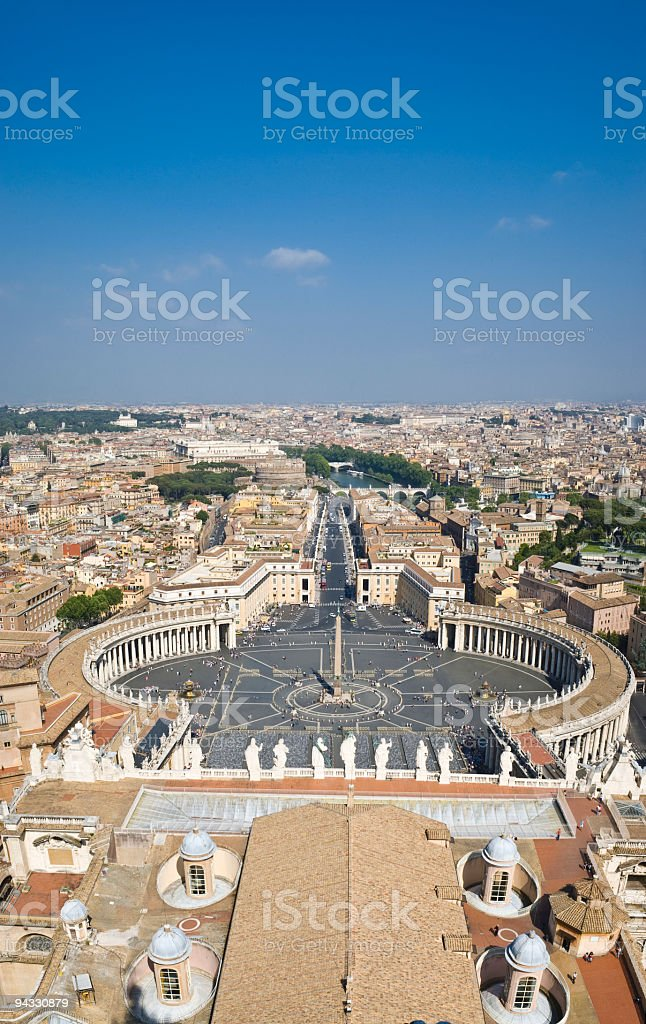 St Peters Square Rome stock photo
