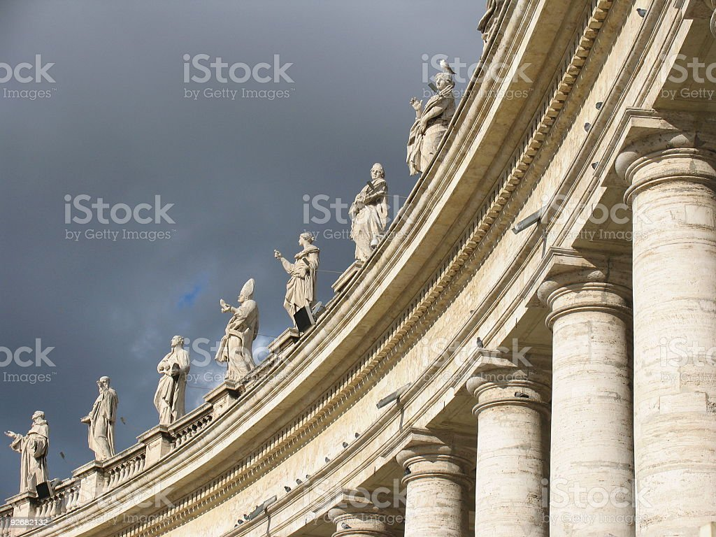 St Peters Square: Vatican City stock photo