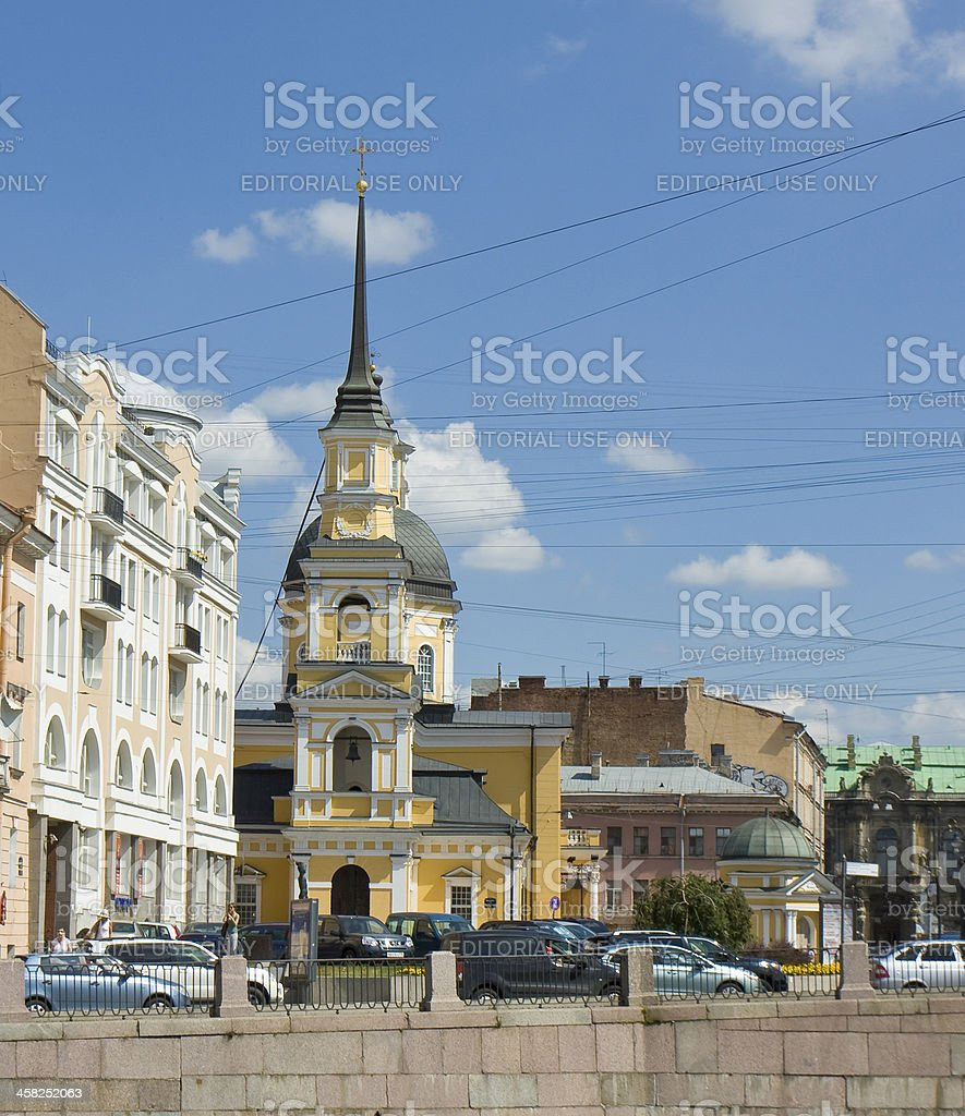 St. Petersburg, church of Anna Prophetess and Simeon royalty-free stock photo