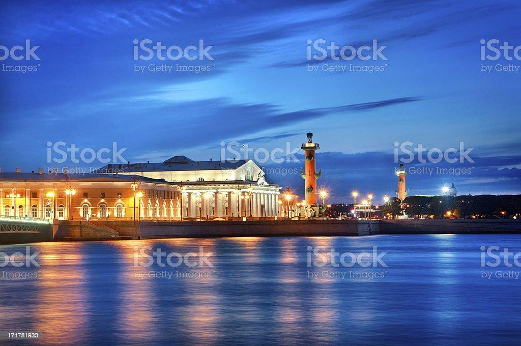 St. Petersburg Cityscape Illuminations stock photo