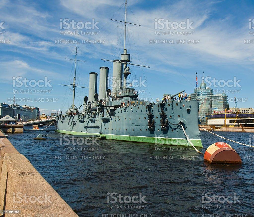 St. Petersburg, cruiser 'Aurora' royalty-free stock photo