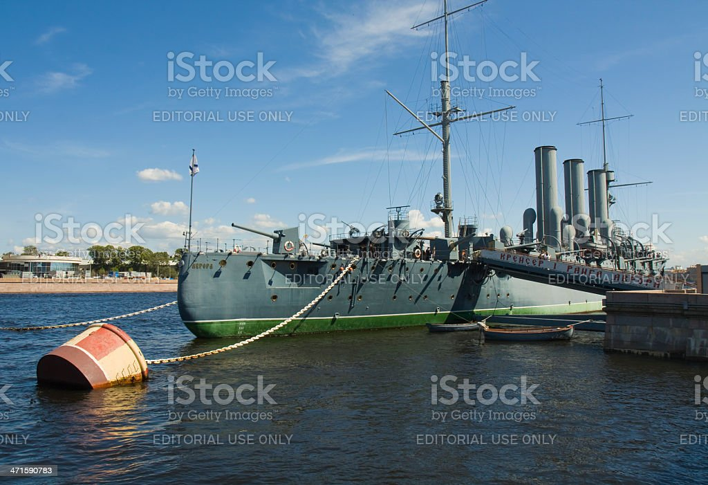 St. Petersburg, cruiser 'Aurora' royalty-free stock photo