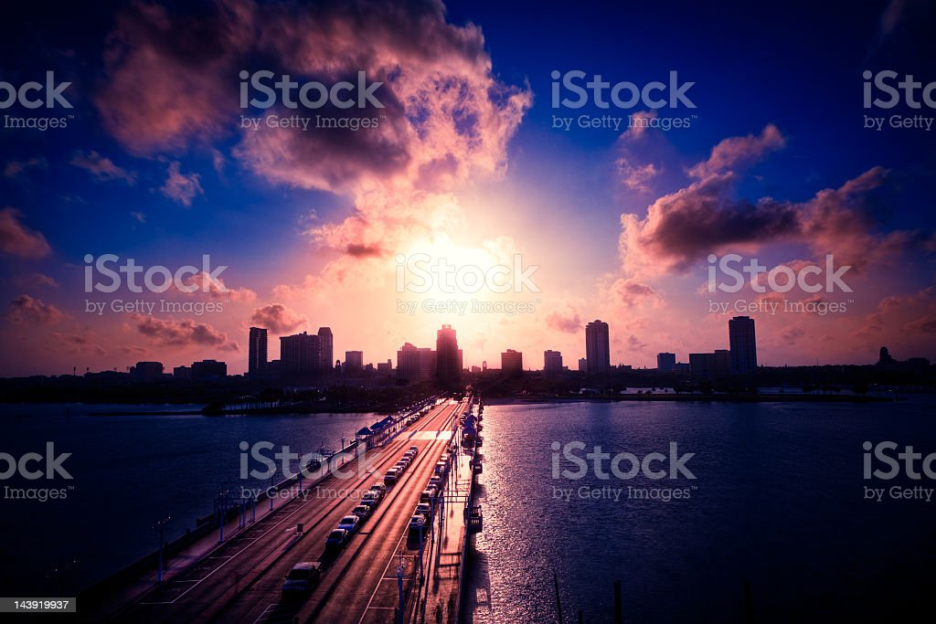 St Petersburg Downtown royalty-free stock photo