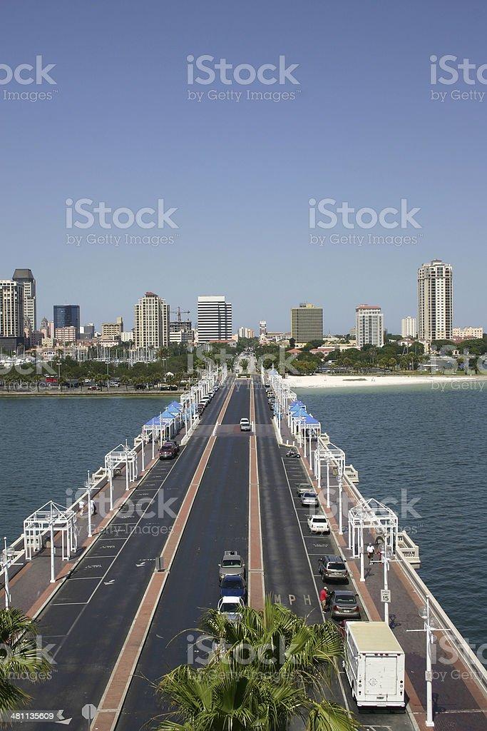 St Petersburg Florida Skyline royalty-free stock photo