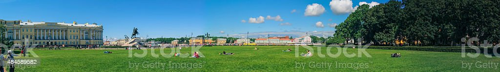 St Petersburg in the summer. stock photo